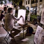 Street artists in nerja